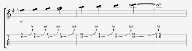 UNISON BENDS USING G MAJOR SCALE