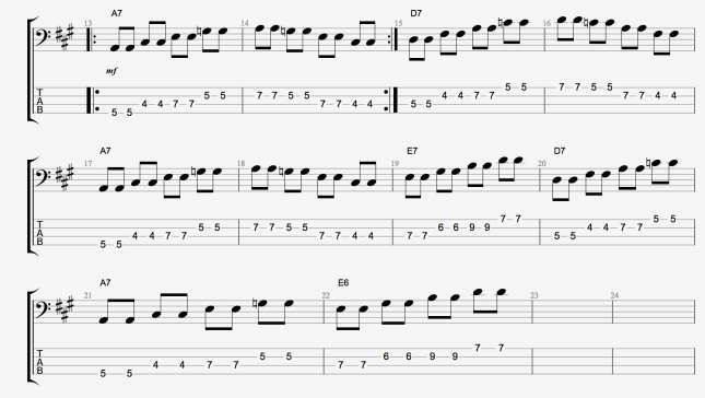 BLUES BASS LINES DOMINANT 7 ARPS