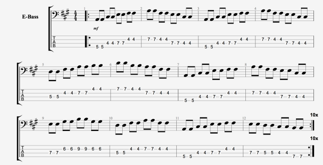 BLUES BASS PATTERN 1